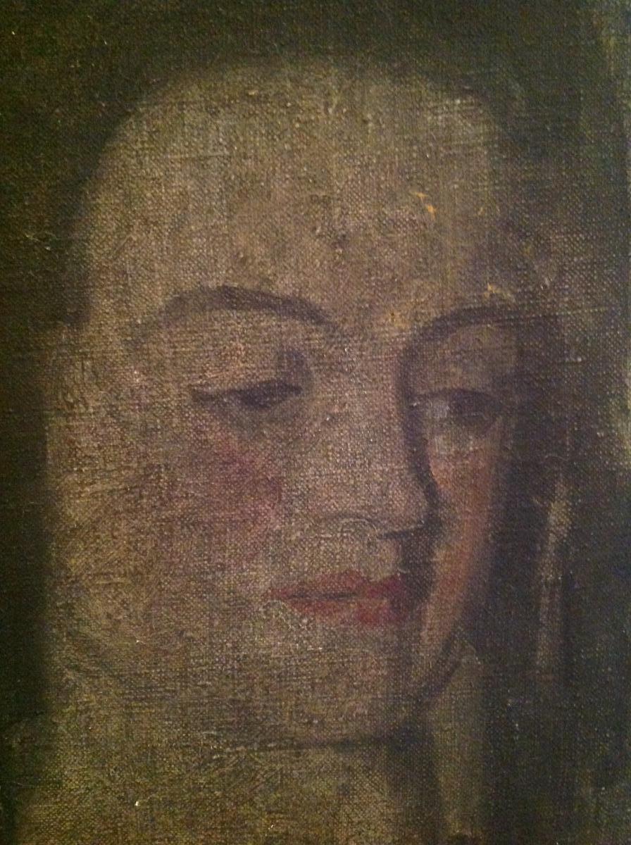 Huile Sur Toile - Lenoir Marcel - Portrait De Femme Vers 1920