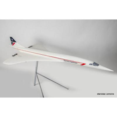 Grande Maquette d'Agence Du Concorde -british Airways - Vers 1970