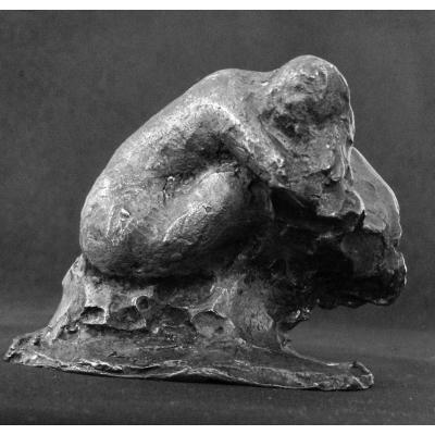 Bronze, Woman Washing The Hair - Borgord Martin 1869-1935
