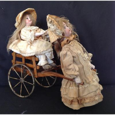 La Promenade, French Mechanical Toy,  Late XIX-early XXth