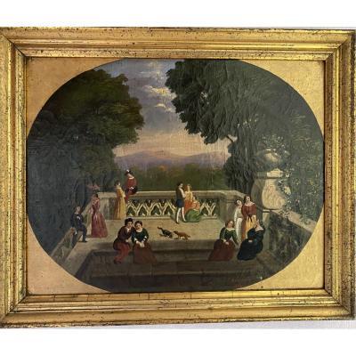Scène Galante - Bouyer 1858 -