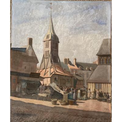 Honfleur, Marché église St Catherine - Raverot Emmanuel