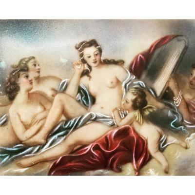 The Triumph Of Venus - Miniature On Ivory