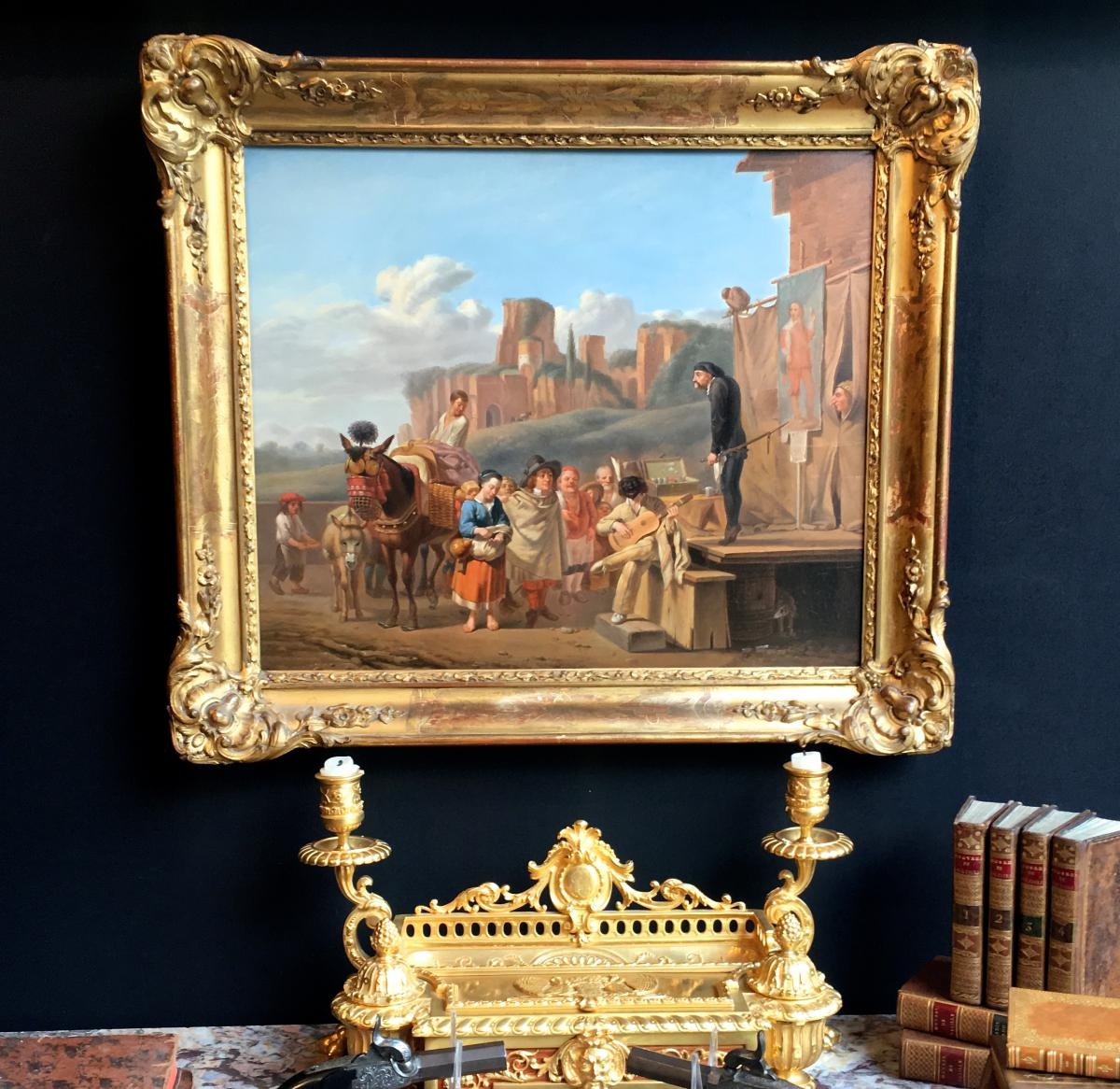 """French School Eighteenth Time """"the Charlatans Italians"""" Of After Karel Dujardin"""