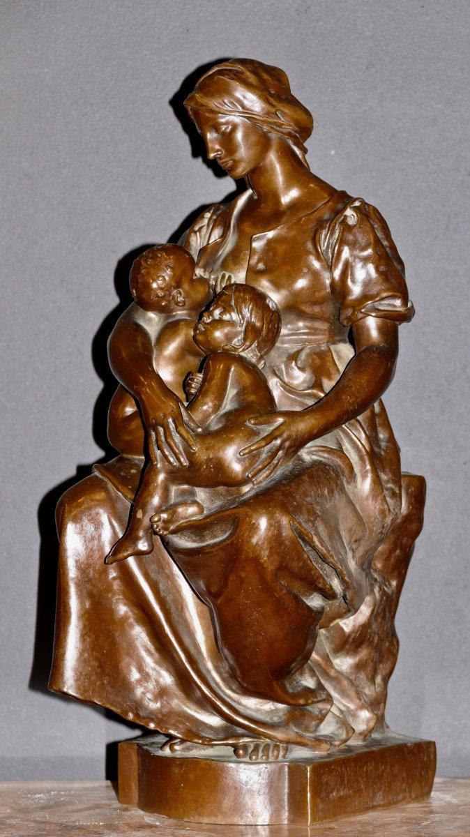Beau groupe en Bronze La Maternité Signé Par Paul Dubois époque 19ème