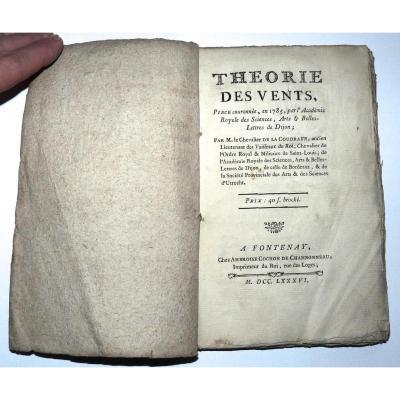 Théorie Des Vents 1786 Par Le Chevalier De La Coudraye Rare Ouvrage Scientifique Avec Sa Carte
