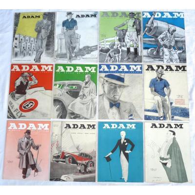 Adam La Revue De l'Homme - 12 Numéros - Année 1932 Complète Du N°69 Au N°80 - Mode Masculine