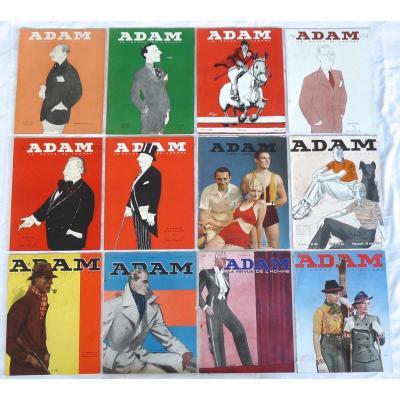 Adam La Revue De l'Homme - 12 Numéros - Année 1933 Complète Du N°81 Au N°92 - Mode Masculine