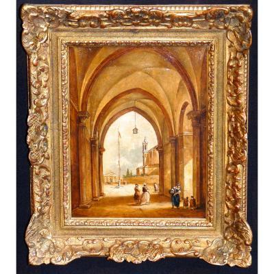 Tableau ancien peinture sur proantic for Peinture sur bois cire