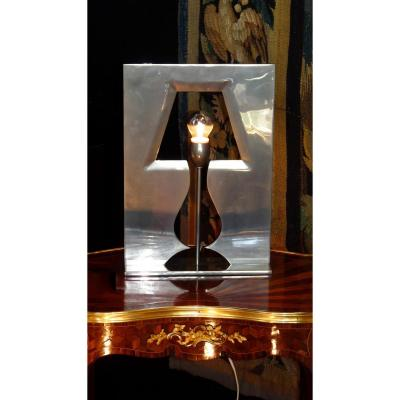 """Lamp """"illusion 2 Mirage"""" Signed Hubert Le Gall And Numbered"""