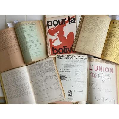 Rarissime Plus De 700 Tracts d'époque Concernant La Période De Mai 68 Et La Guerre Du Vietnam