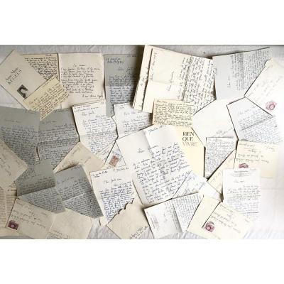 Rare Correspondance 1950/60  Entre Les Poetes Béchade-labarthe Et Kegels + Edition Originale