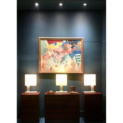 Ensemble De 3 Grandes  Lampes Pièces Uniques Design Par Reda Amalou