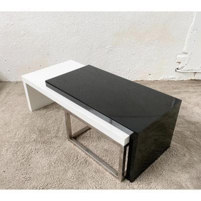 Rare Table Basse Modulable Pièce Unique Design Jean Pierre Mesmin Années 1970/1980