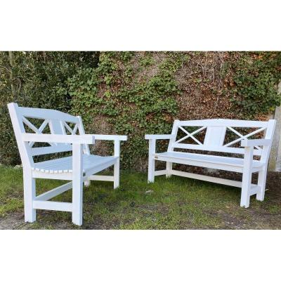 Rare Pair Of Benches Signed Pierre Dariel Period 1928 - Robert Mallet-stevens