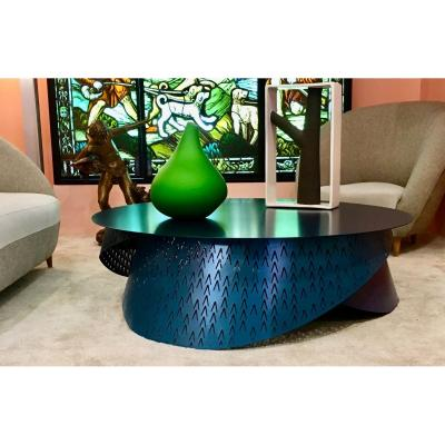 Prototype Design Lacquered Steel Coffee Table By Joelle Rigal Physalie Model