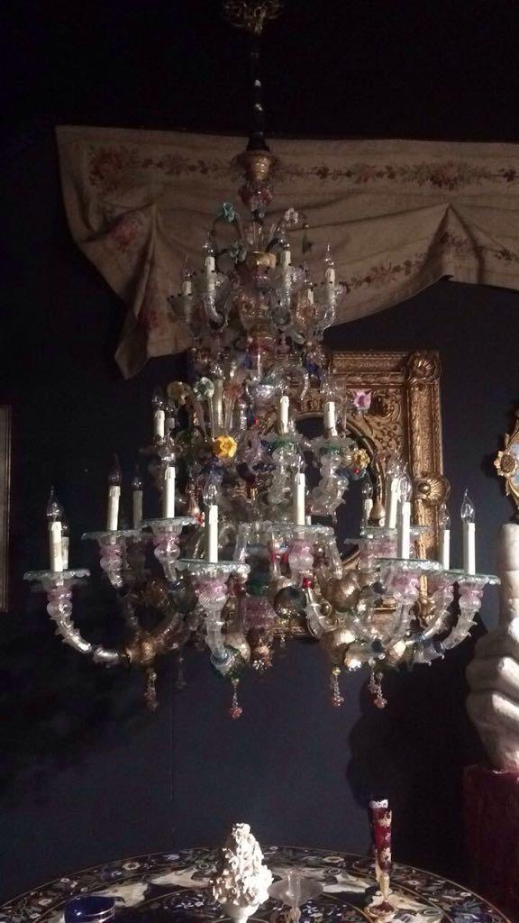Très Grand Lustre Murano 33 Lumières