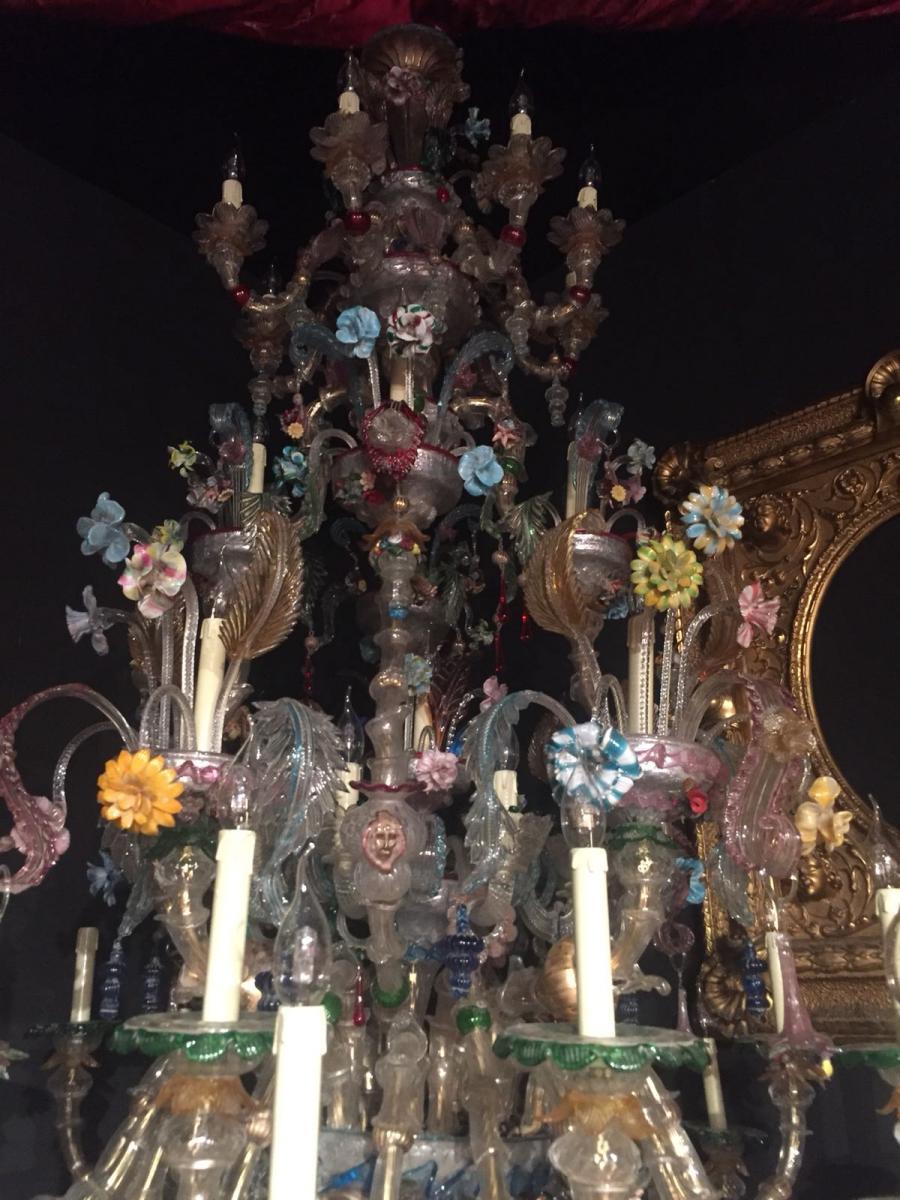 Très Très Grand Lustre Murano 40 Lumières-photo-2