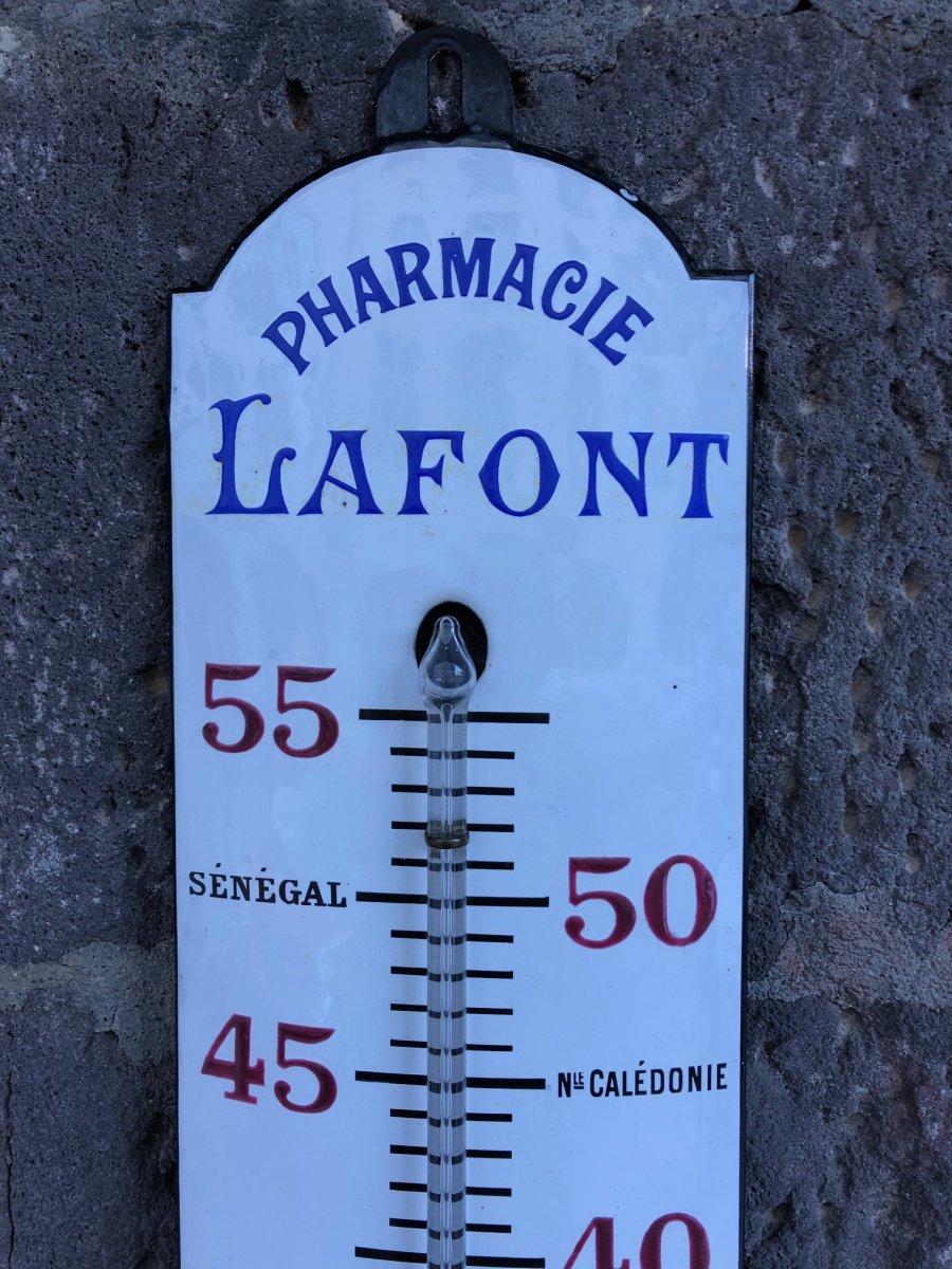 Thermomètre Ancien,plaque émaillée Pharmacie