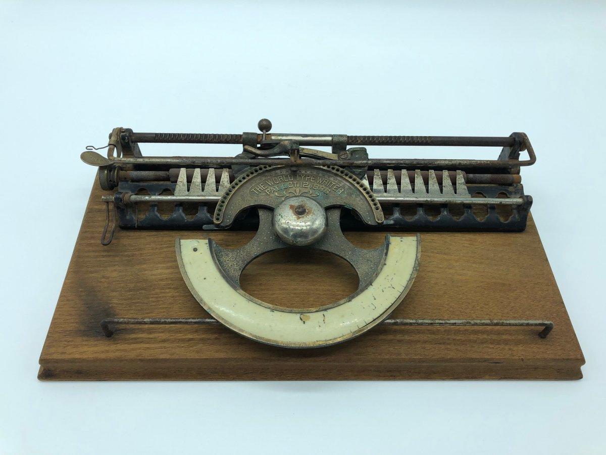 Rare Machine à écrire Type Writer 1886 -photo-1
