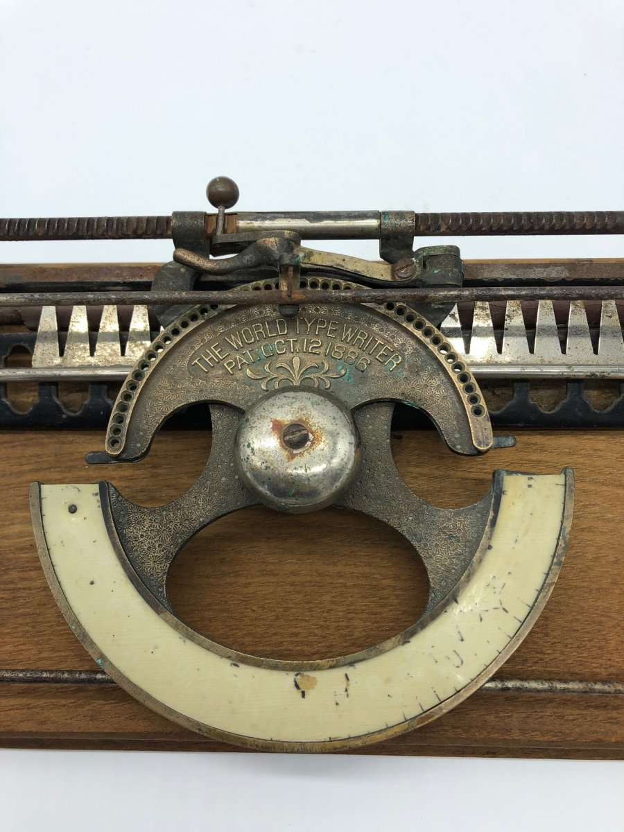 Rare Machine à écrire Type Writer 1886 -photo-2