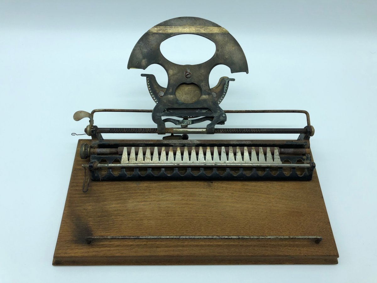 Rare Machine à écrire Type Writer 1886 -photo-4