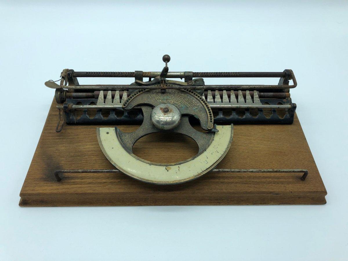 Rare Machine à écrire Type Writer 1886 -photo-5