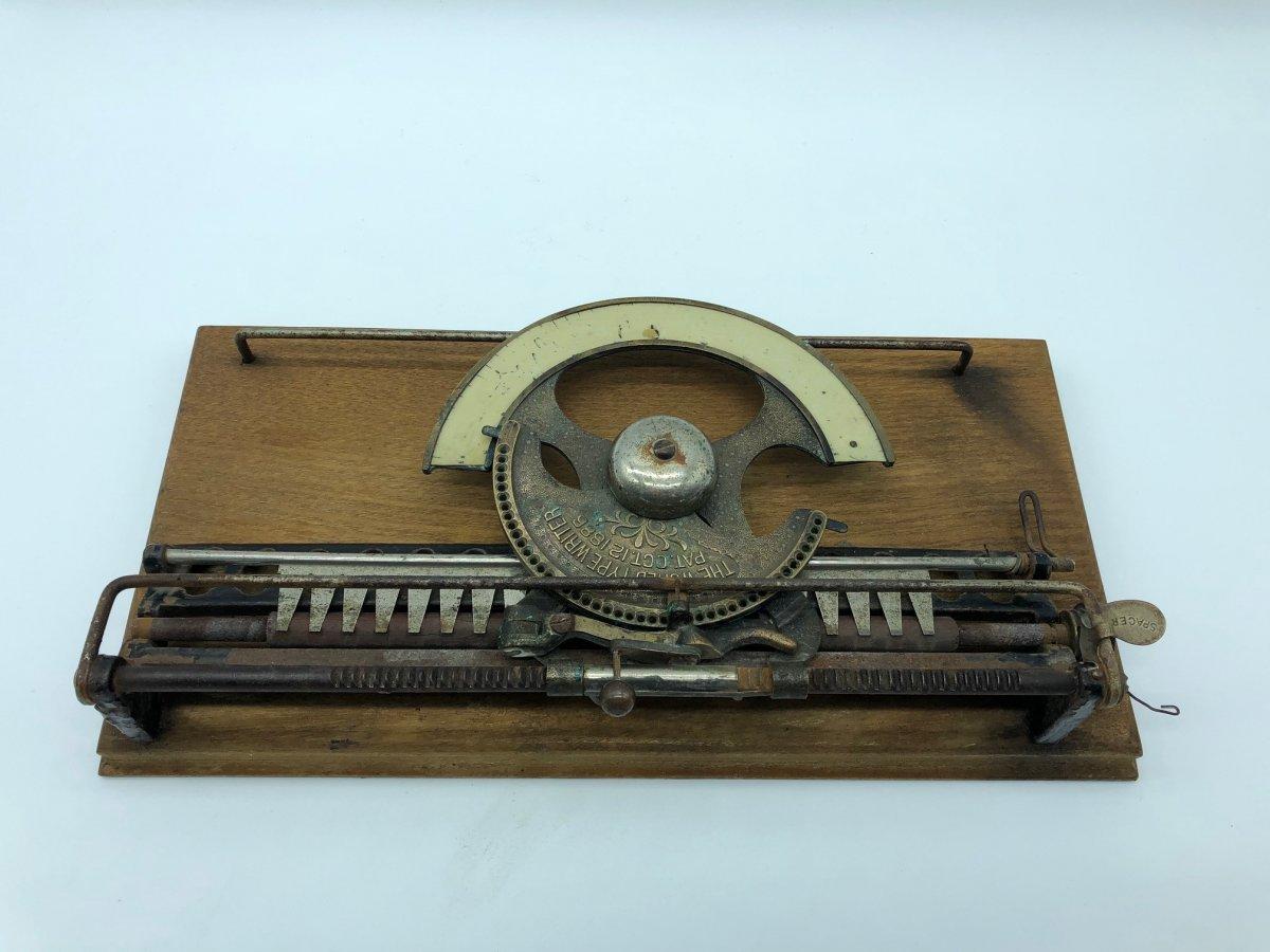 Rare Machine à écrire Type Writer 1886 -photo-7