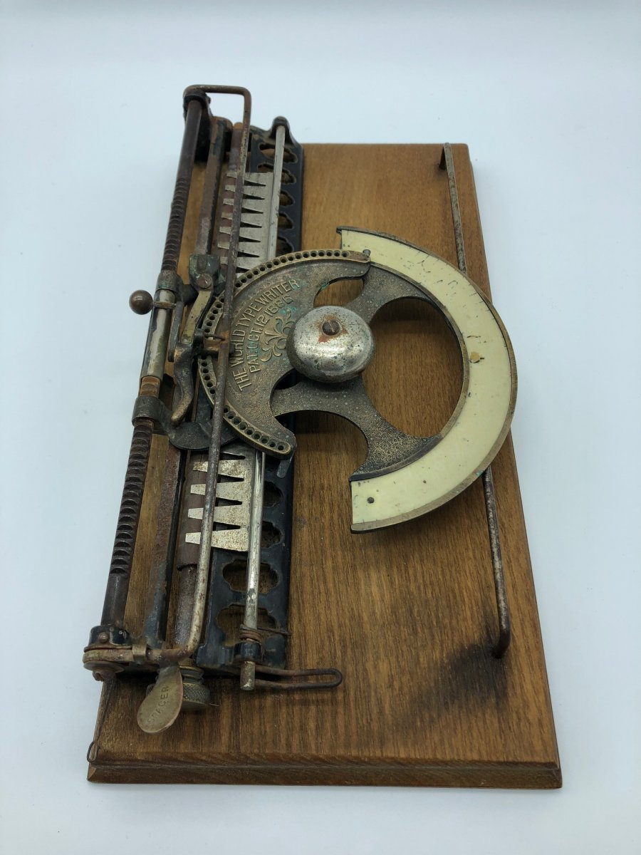 Rare Machine à écrire Type Writer 1886 -photo-8