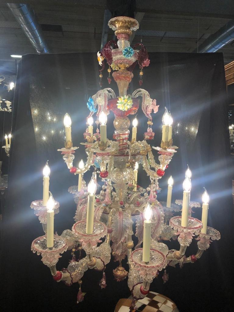 Magnifique Lustre De Venise 16 Lumières-photo-2