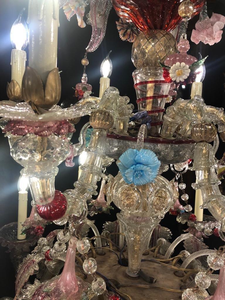 Magnifique Lustre De Venise 16 Lumières-photo-3