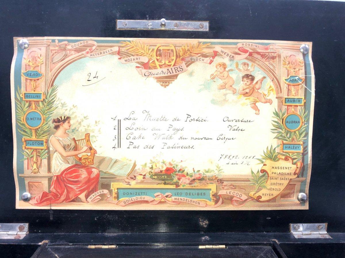 Boîte à Musique 4 Airs Napoléon III -photo-2
