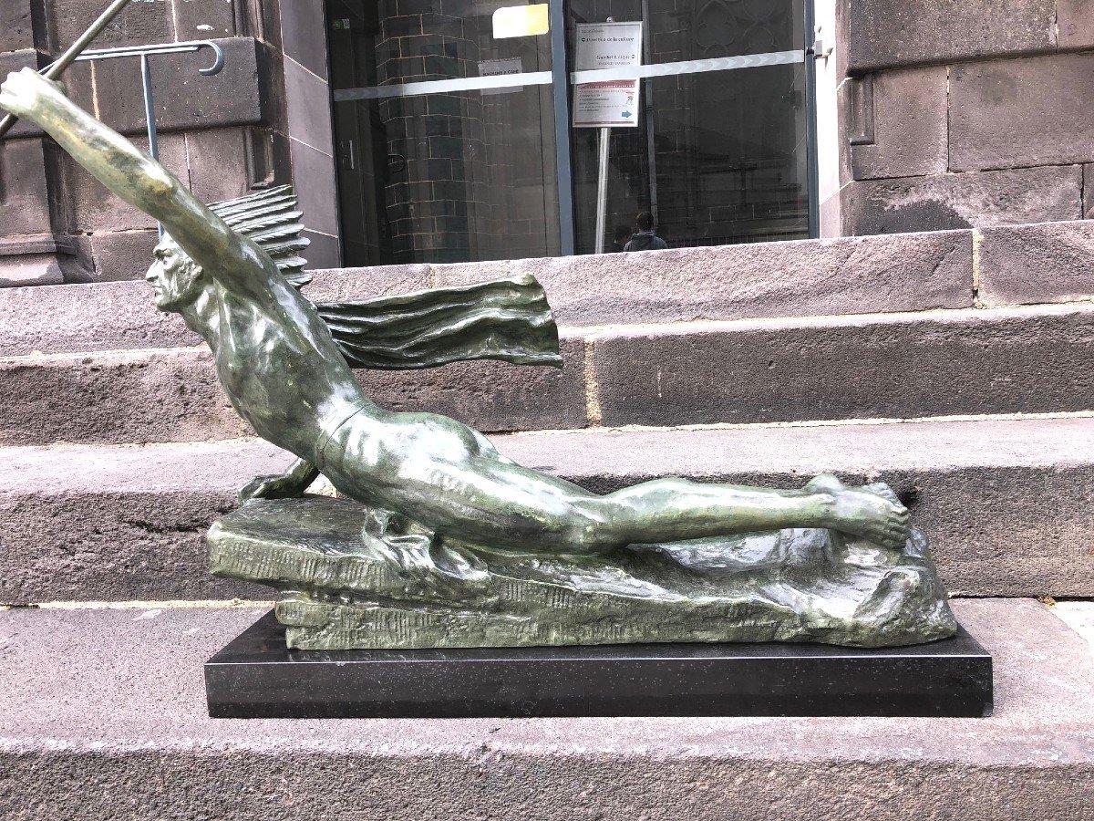 Important Bronze De Marcel André Bouraine-photo-1