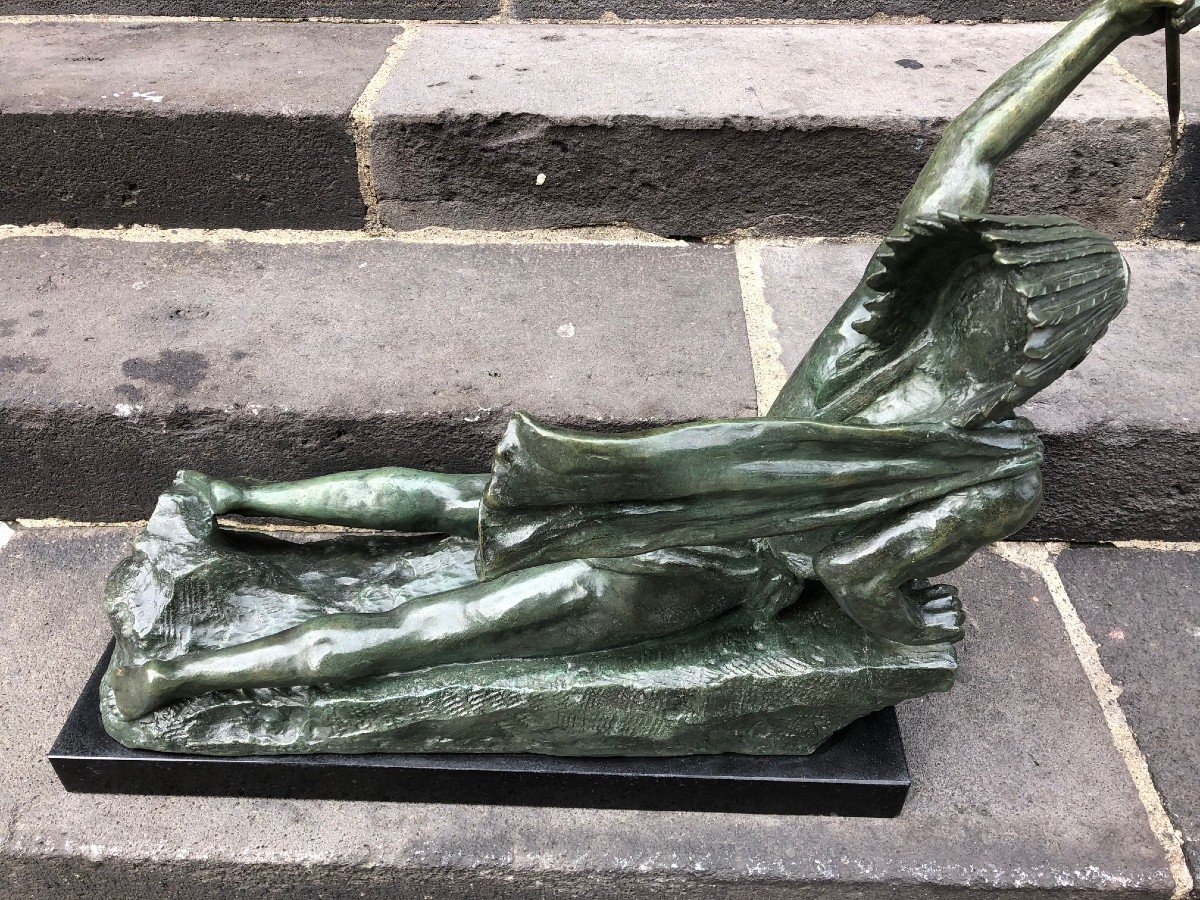 Important Bronze De Marcel André Bouraine-photo-6