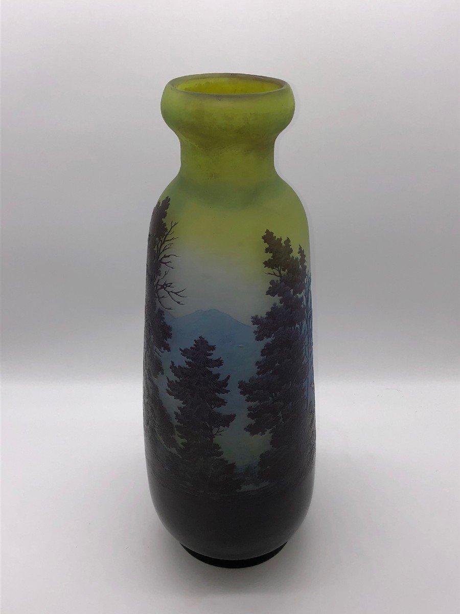 Très Grand Vase Gallé Vosgien 45,5 Cm