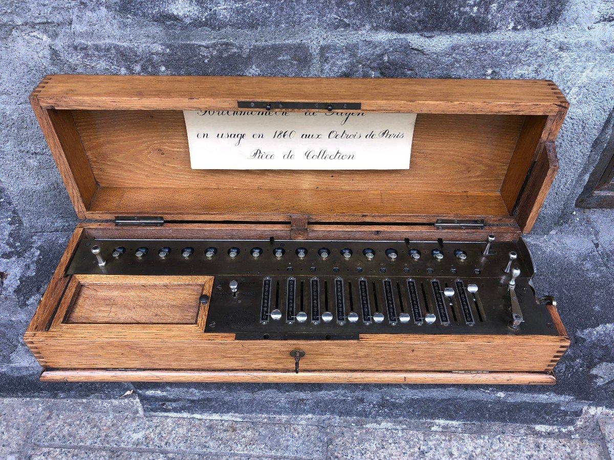 Rare Arithmomètre L.payen 9 Scripteurs-photo-7
