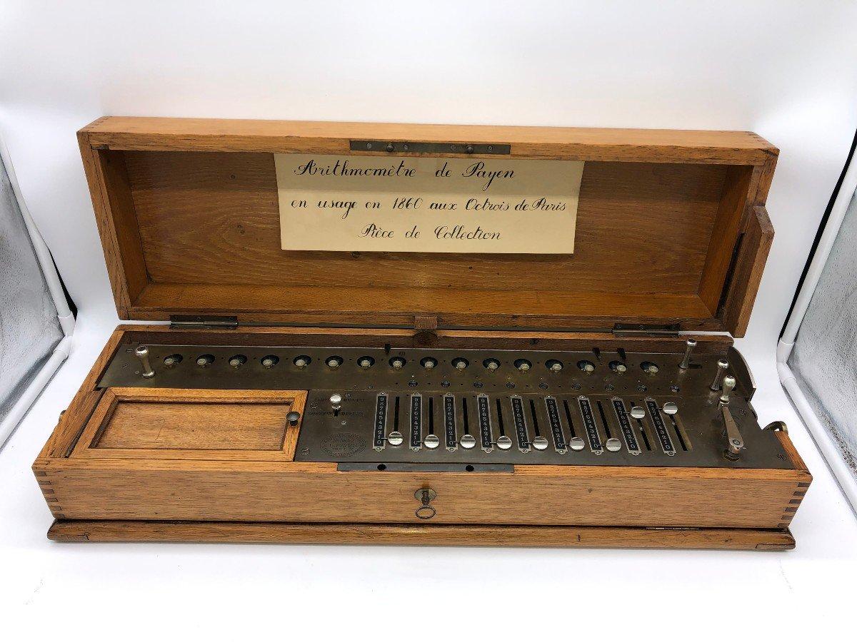 Rare Arithmomètre L.payen 9 Scripteurs