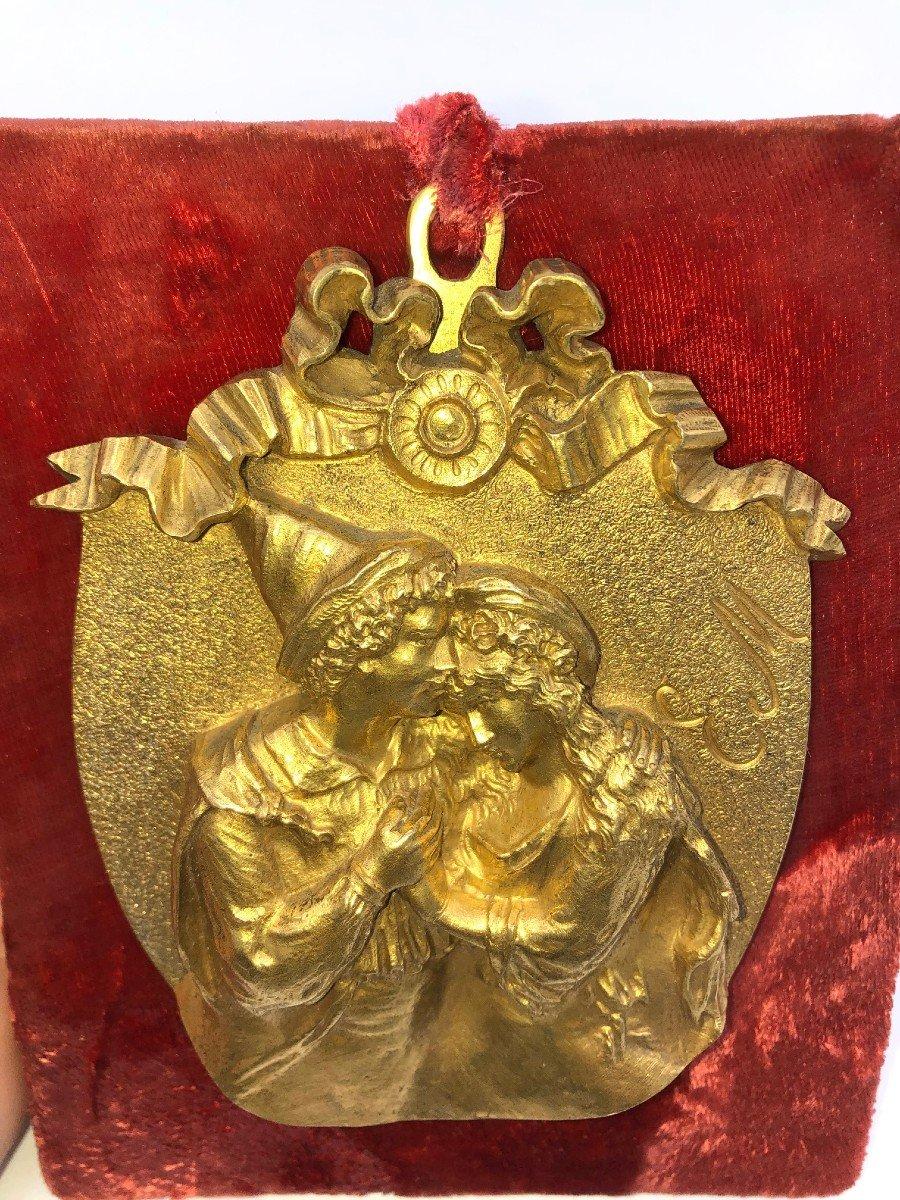 Bas Relief Bronze Signé E.m.-photo-8