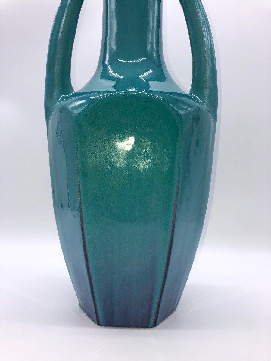 Vase Ceramique Bleu Art-deco-photo-4