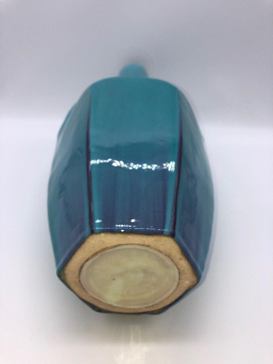 Vase Ceramique Bleu Art-deco-photo-5
