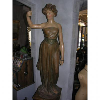 Great Statue Art Nouveau 1m 50!