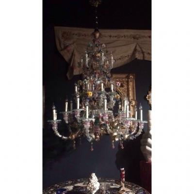 Very Large Murano Chandelier 33 Lights