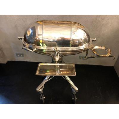 Roast Beef Trolley Silver Metal Signed Ercuis