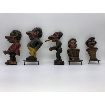 Ensemble De 5 Sculptures  Foraine Tir Et Jeu De Massacre