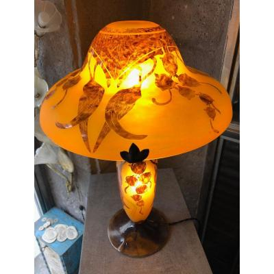 """Lampe Champignon """" Le Verre Français """" Eucalyptus"""
