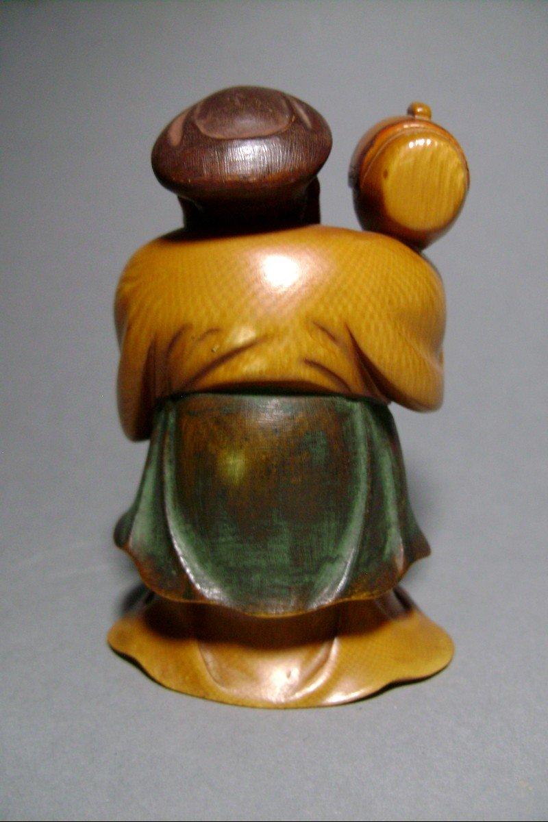 Ivory Okimono. Daikoku, God Of Wealth. Japan Meiji Period, 1900.-photo-4