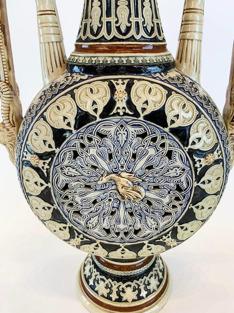 Vase En Porcelaine 19 S Style Orientaliste -photo-3