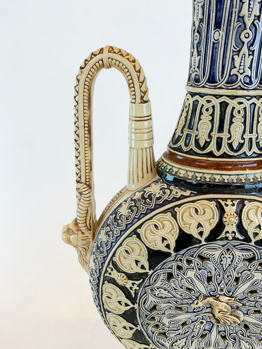 Vase En Porcelaine 19 S Style Orientaliste -photo-4