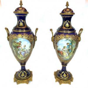 Grande Porcelaine Sevres 19eme Siecle