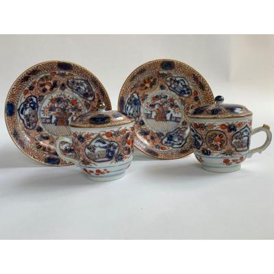 Tasses japonaises Imari du XVIIIe siècle / 18th century Japanese Imari cups